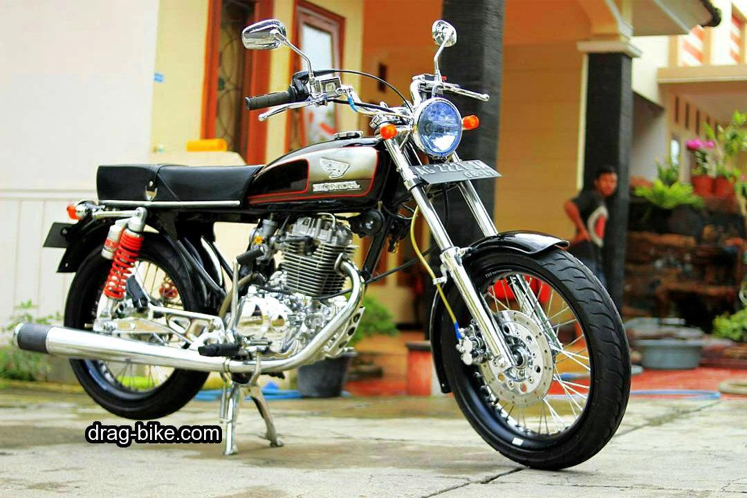 50 Foto Gambar Modifikasi Honda Cb 100 Klasik Jap Style Cafe Racer