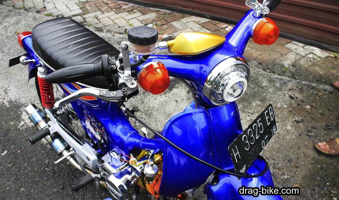 Foto gambar modifikasi motor minti c70 kontes