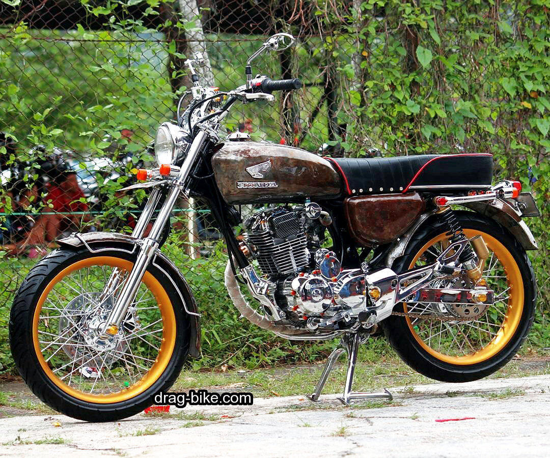 Gambar modifikasi motor cb 100 simple