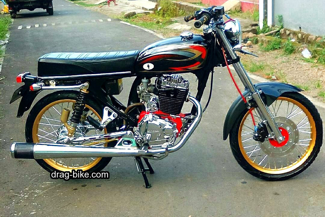 Gambar modifikasi motor cb 100 simple sederhana
