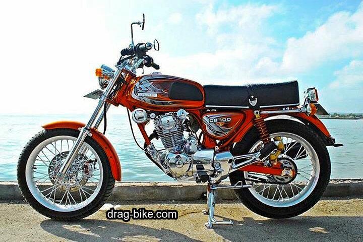 Modifikasi Honda CB 100 Klasik Retro Style