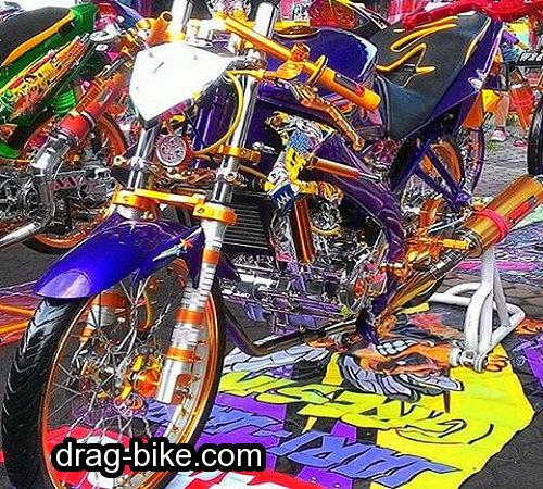 Modifikasi motor drag vixion thailand look