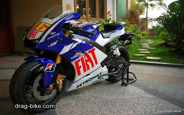 Modifikasi new vixion full fairing M1 motogp