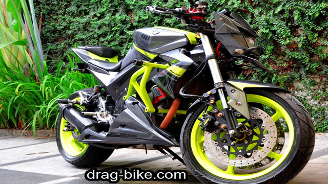 foto motor modifikasi vixion street fighter monster hitam