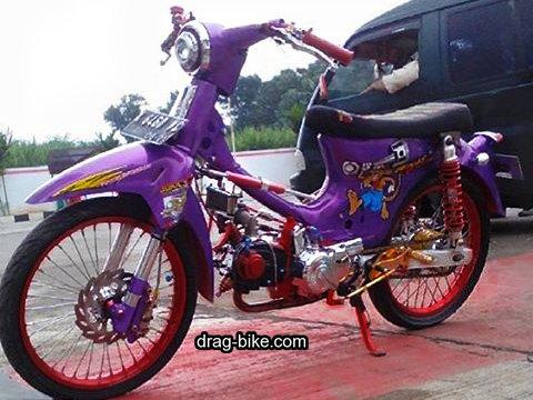 gambar modifikasi motor minti c70 warna ungu