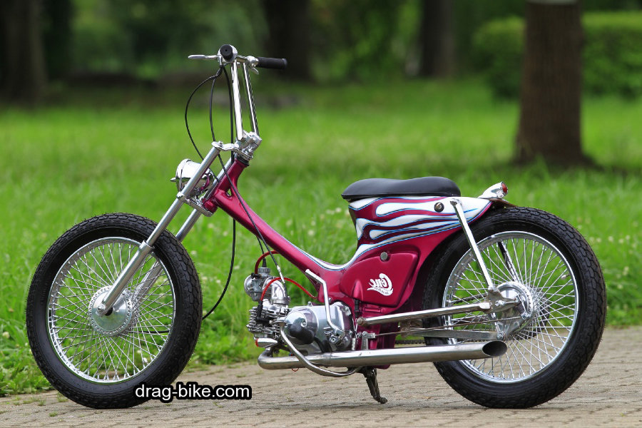 honda c70 modif chopper