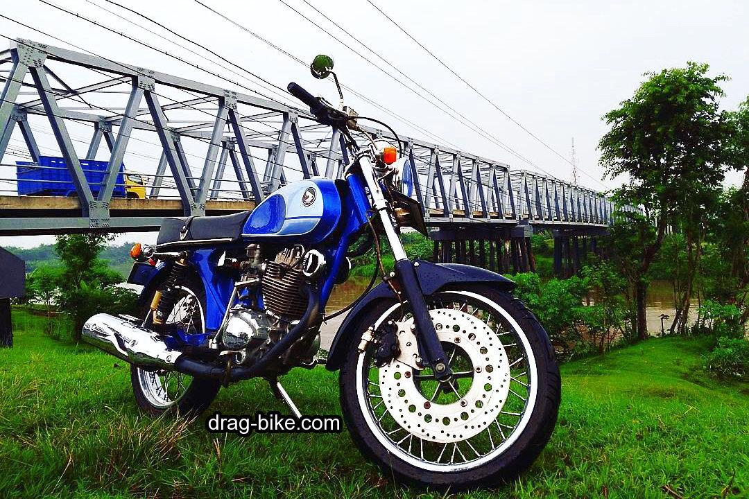 modif motor cb glatik warna biru