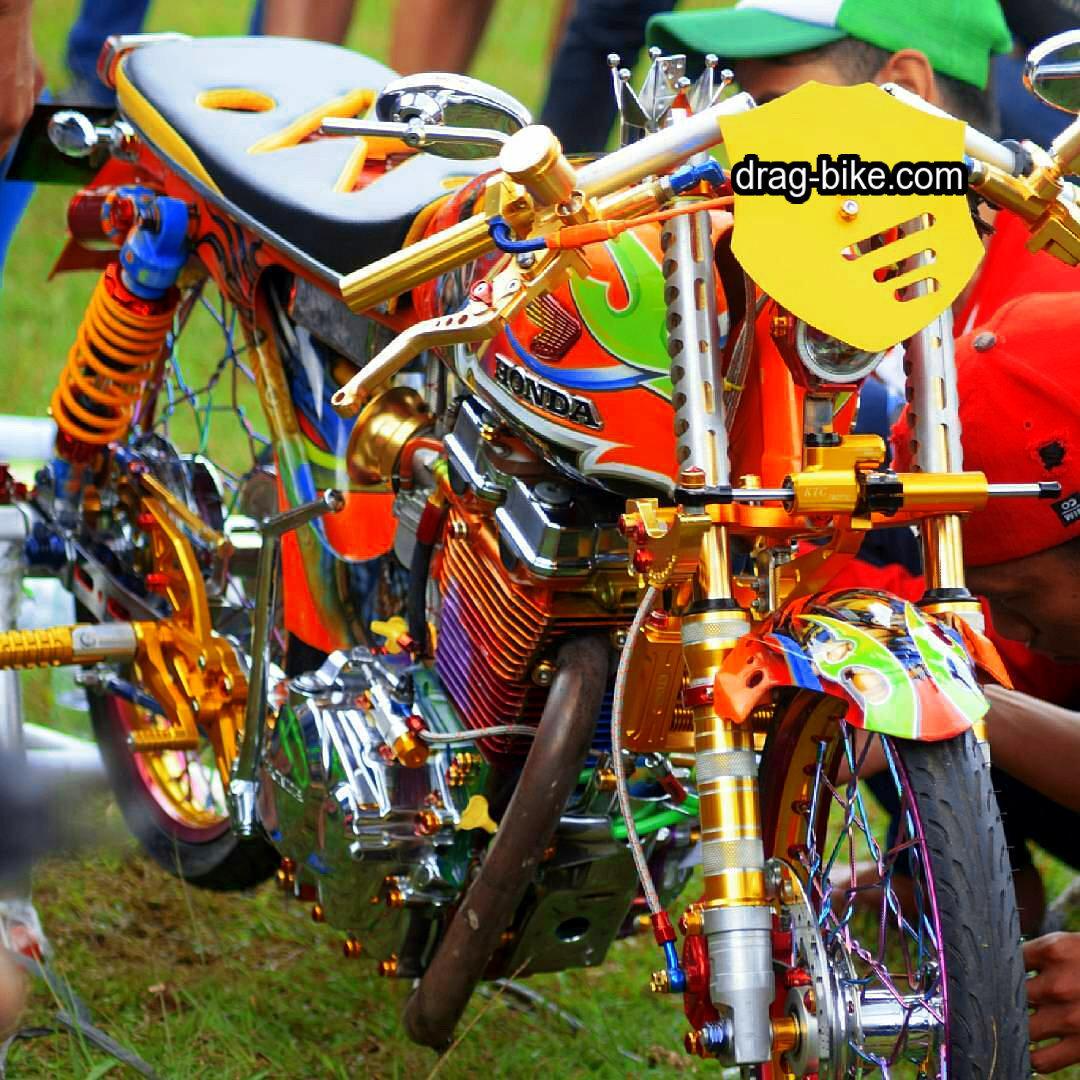 51 foto gambar modifikasi motor cb 100 terbaik kontes drag-bike