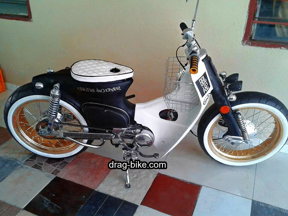 modifikasi honda c70 retro klasik