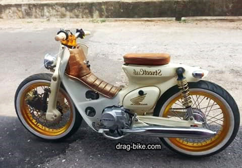 modifikasi honda c70 retro