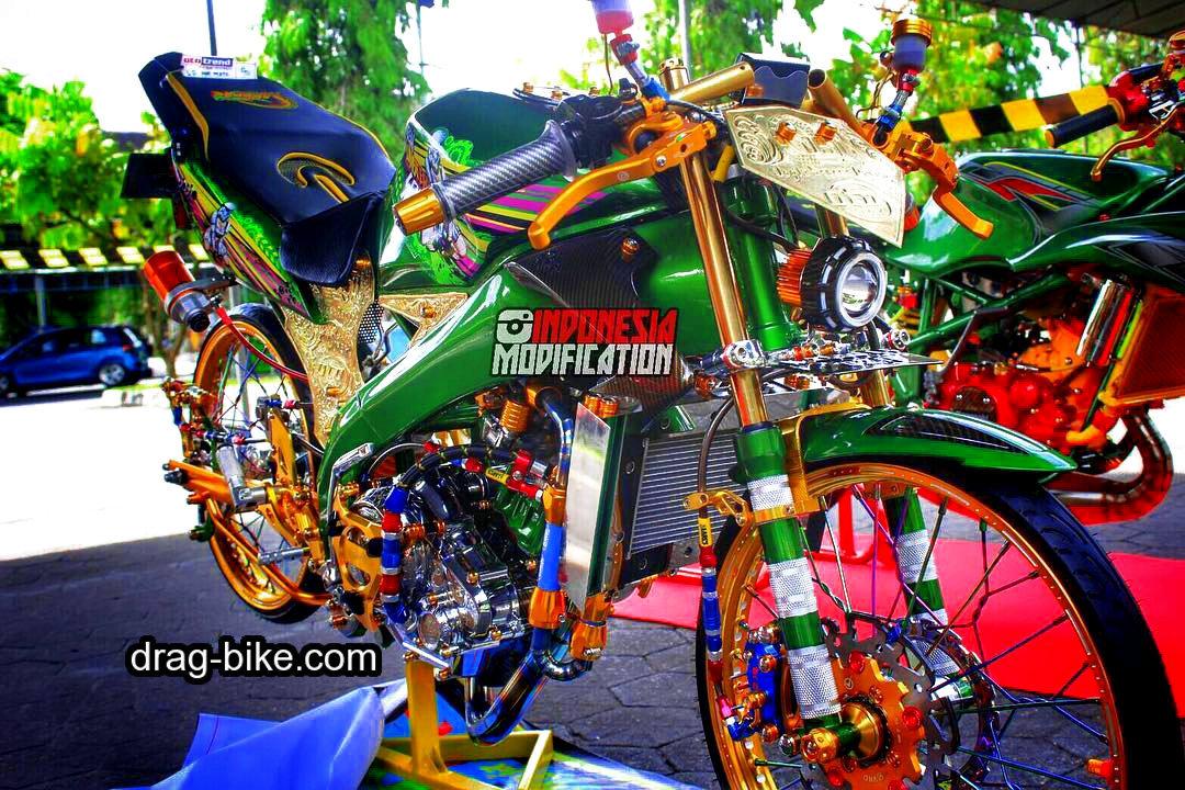 modifikasi motor balap vixion street racing thailook style