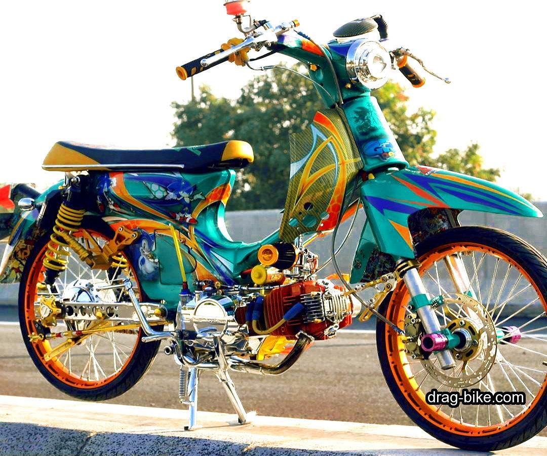 40 Foto Gambar Modifikasi Honda C70 Kontes Airbrush Klasik Keren