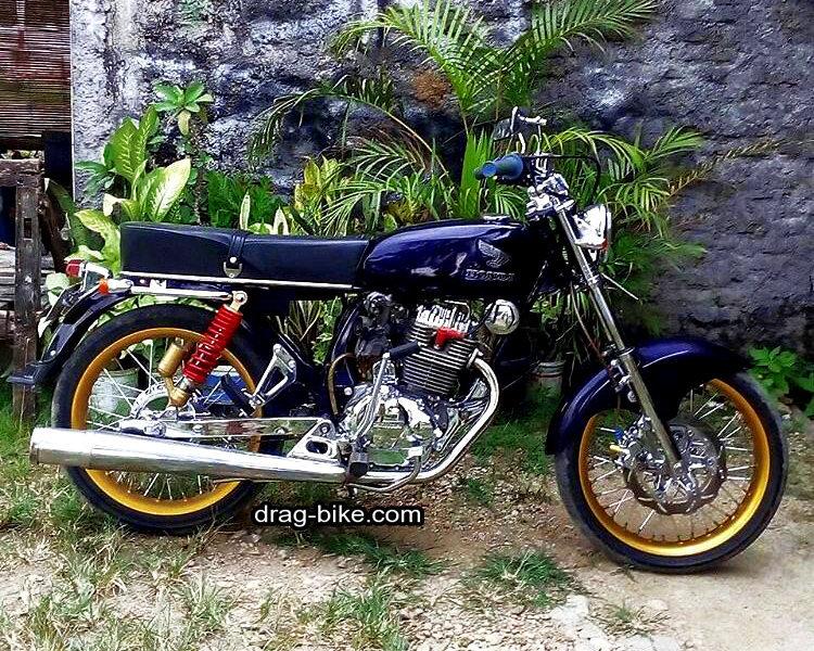 modifikasi motor cb 100 hitam