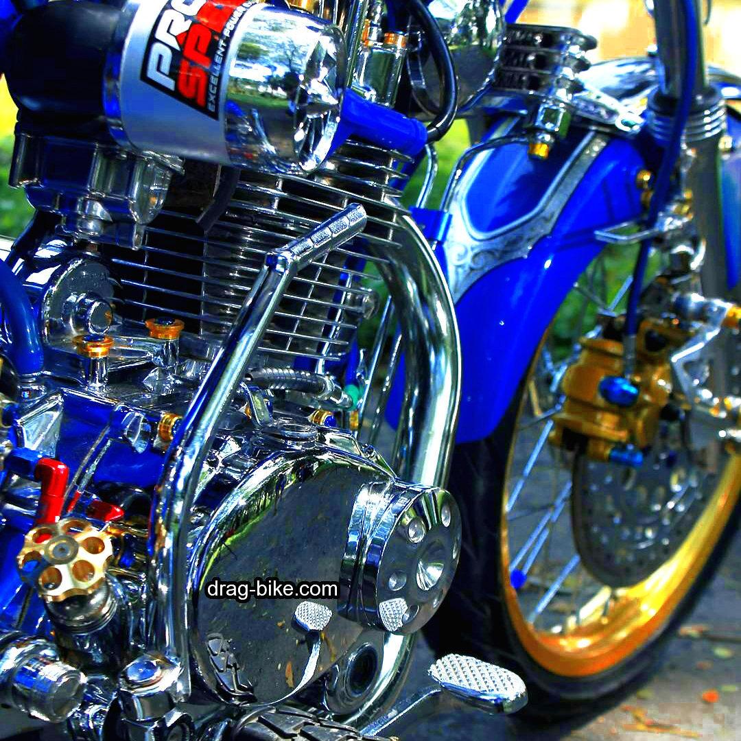 modifikasi motor cb 100 mesin chrome