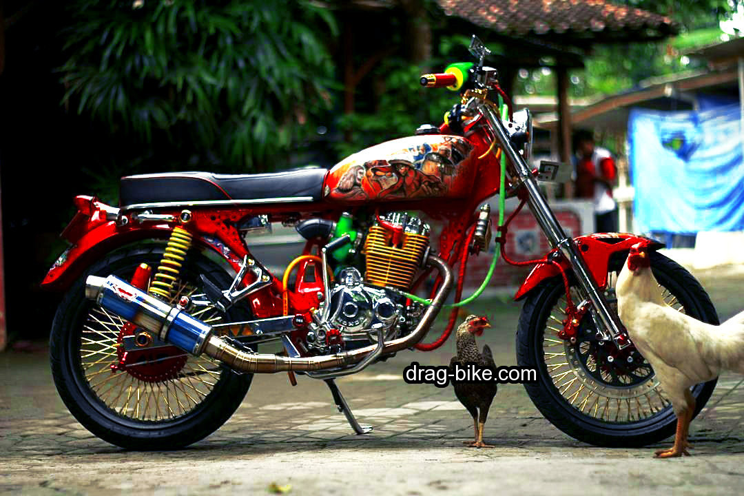 modifikasi motor cb 100 mesin krom