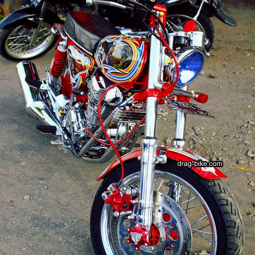 modifikasi motor cb 100 mesin tiger terbaik