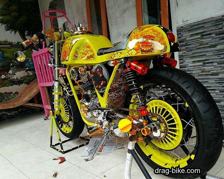 modifikasi motor cbcafe racer