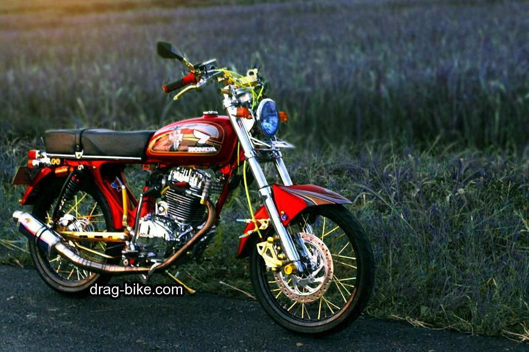 modifikasi motor cb gelatik merah