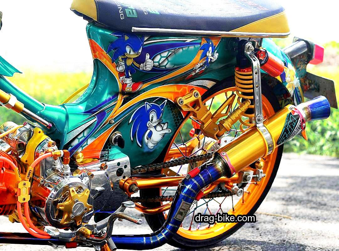 modifikasi motor honda c70 kontes