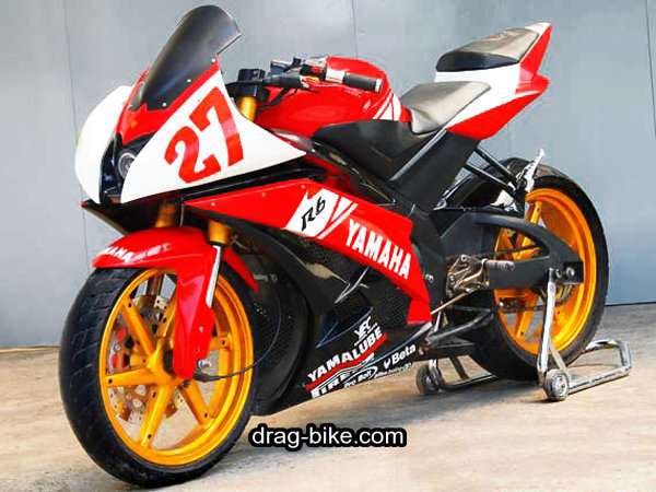 modifikasi new vixion full fairing R6 merah