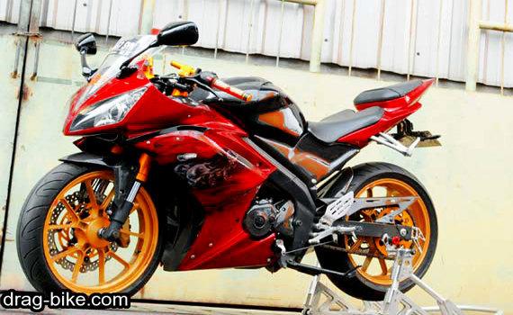modifikasi vixion 2010 merah marun