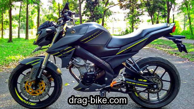 modifikasi vixion street fighter hitam simple