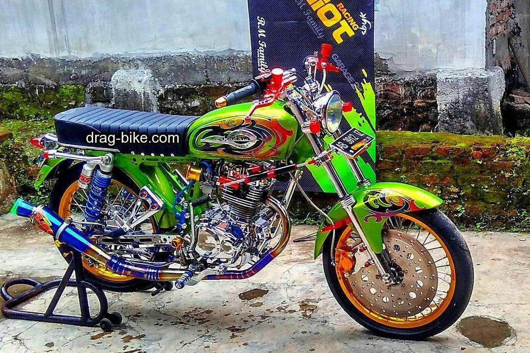 51 Foto Gambar Modifikasi Motor Cb 100 Terbaik Kontes Drag Bike Com