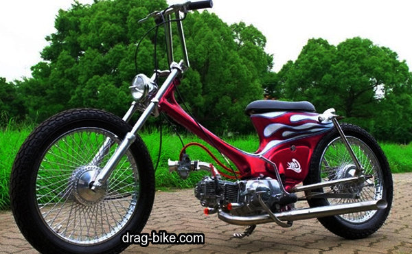 motor honda c70 modif chopper
