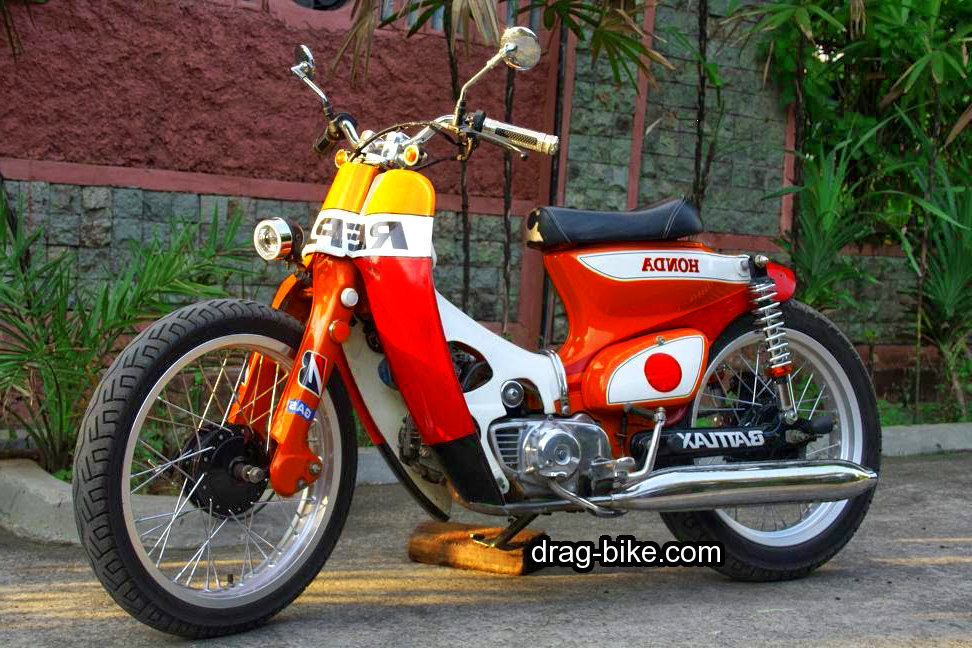 42 Foto Gambar Modifikasi Motor C70 Racing Chopper Jap Style Drag