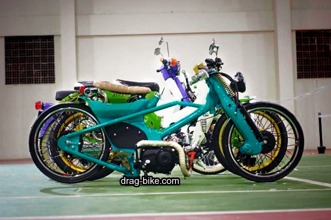 motor honda c70 modif racing look drag