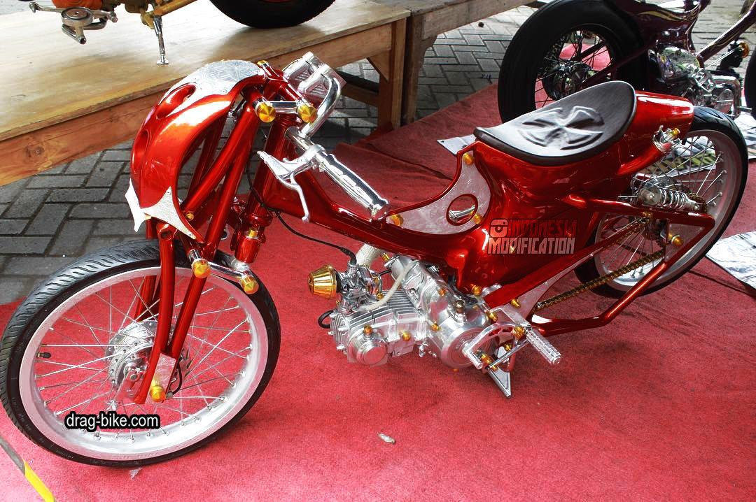 motor honda c70 modif racing thailook style