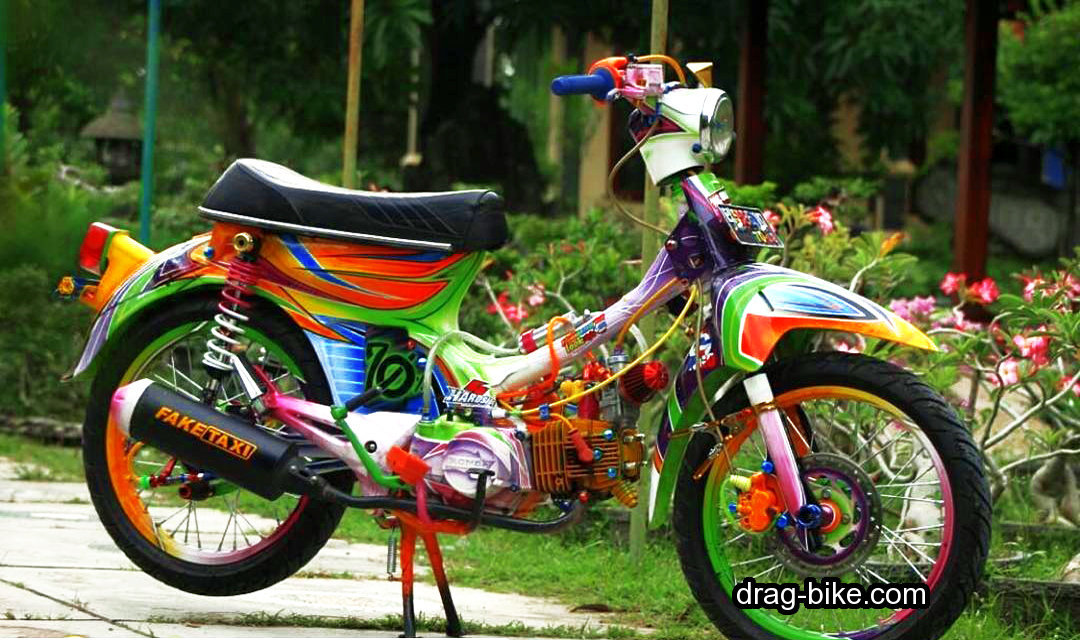 motor honda c70 modifikasi airbrush
