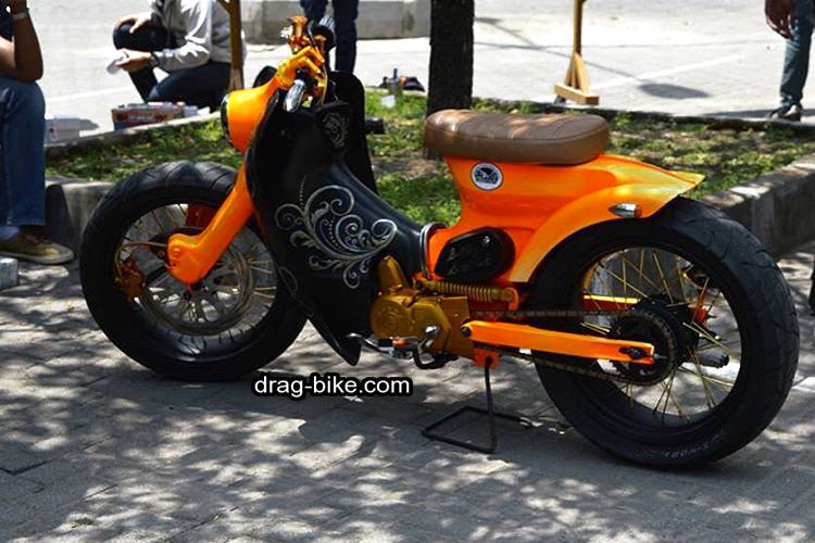 motor honda c70 modifikasi touring