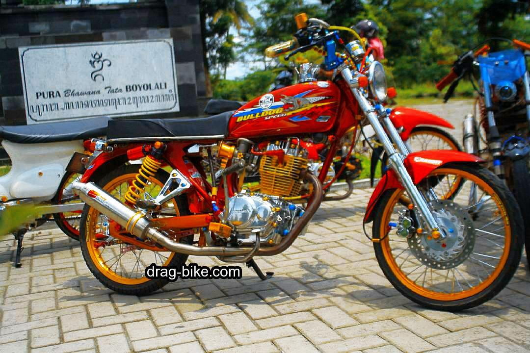 variasi motor cb 100 modif street racing thailook style