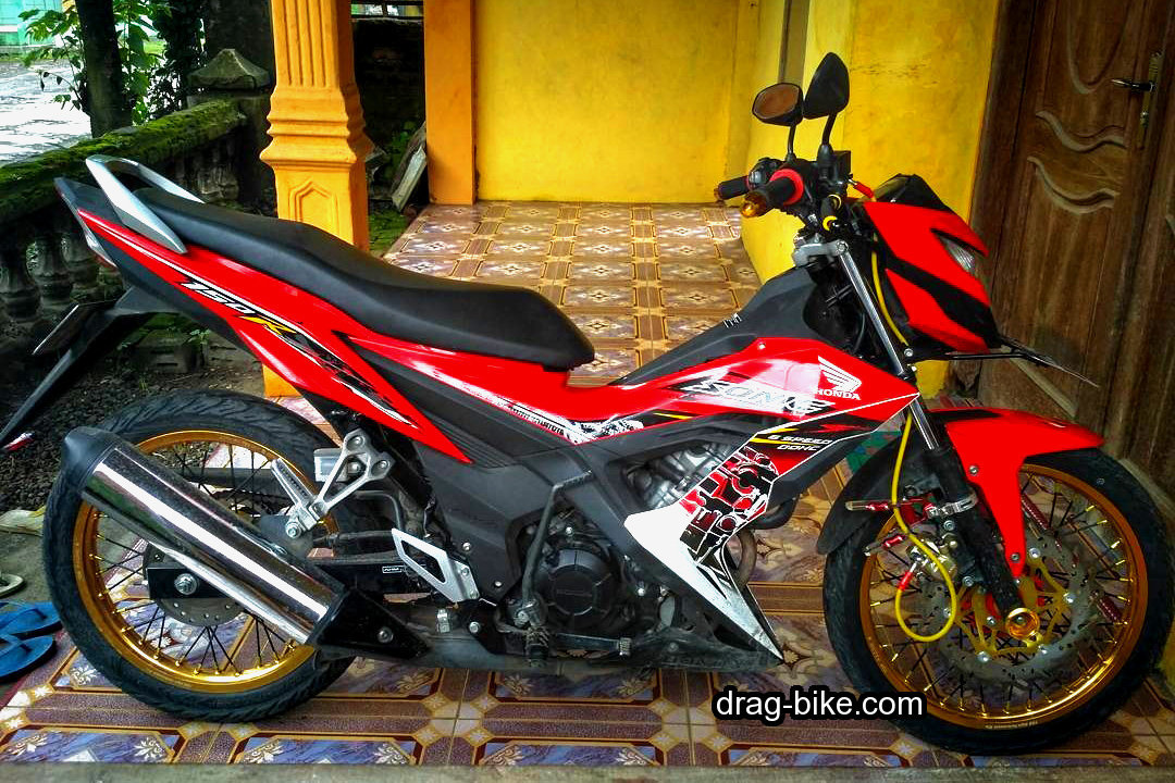 Modifikasi honda sonic 150 motor plus