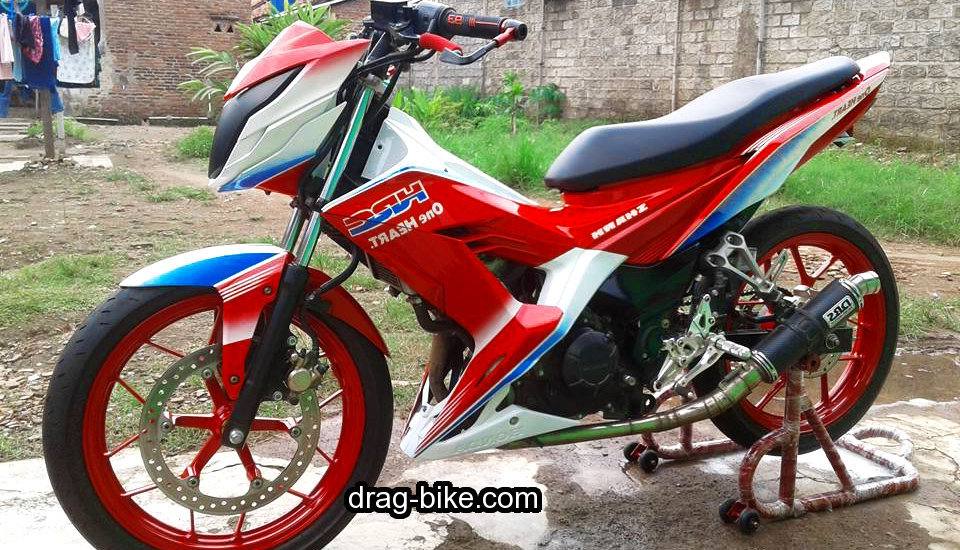 Modifikasi motor honda sonic road race