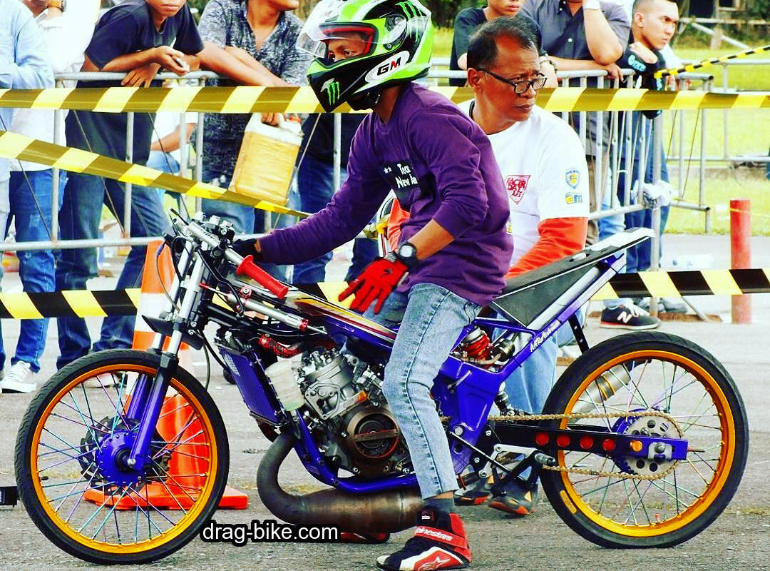 foto modifikasi ninja r motor drag