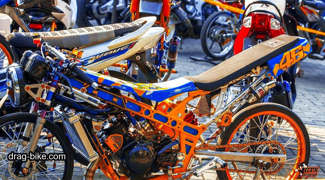 foto motor drag ninja modifikasi mothai thailook style