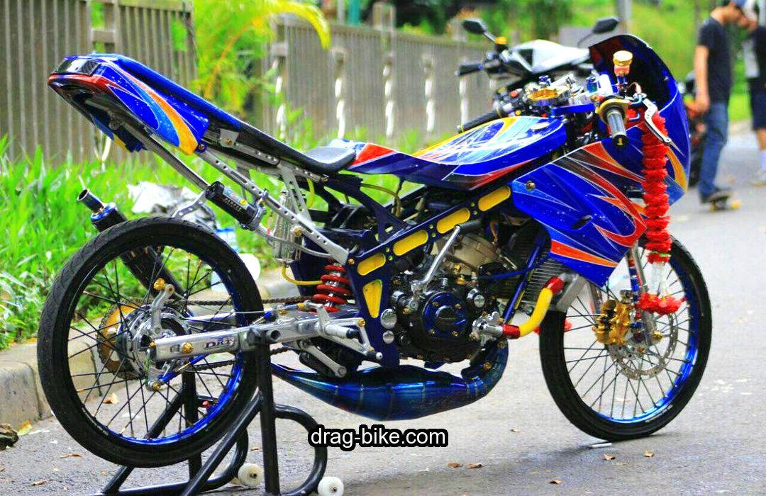 gambar motor drag ninja modif thailand ayam jago mothai