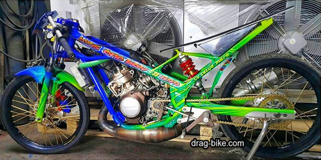 kawasaki ninja r modif drag bike