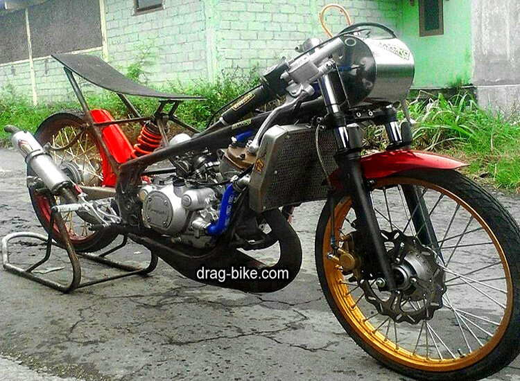 kawasaki ninja r modif motor drag bike