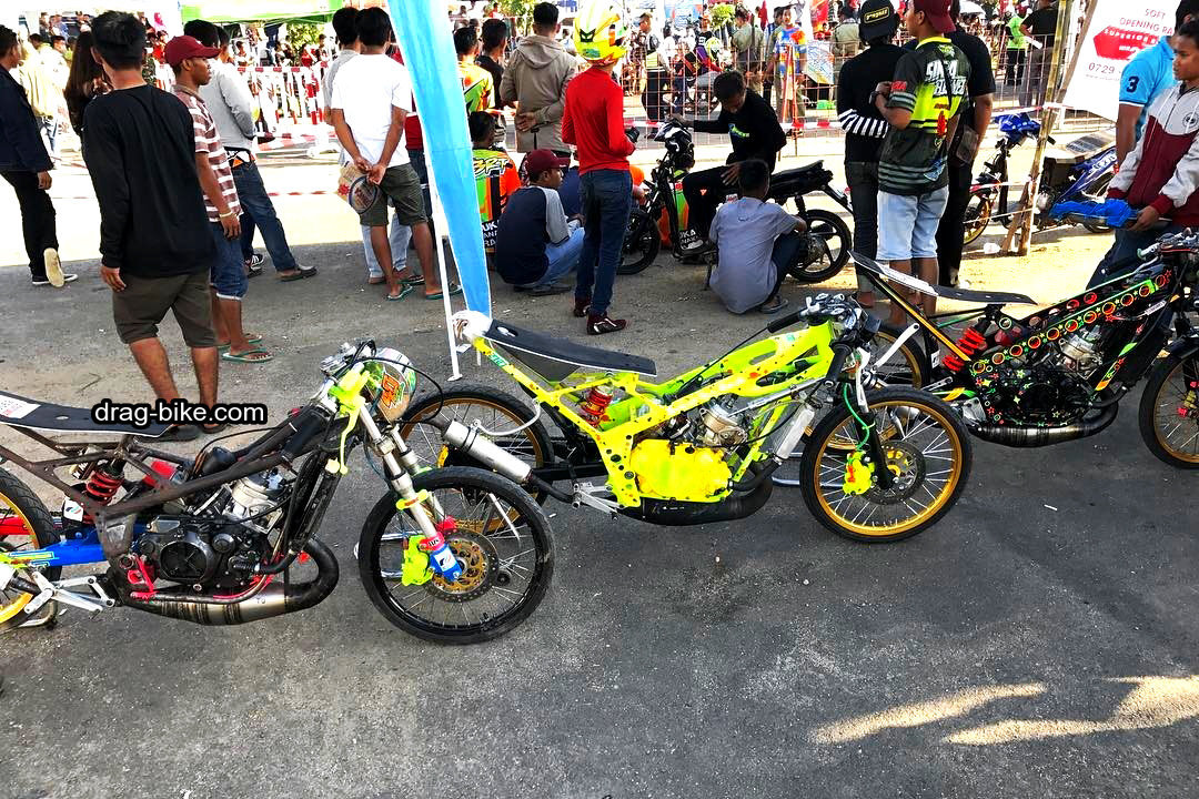 modifikasi drag motor ninja thailook style