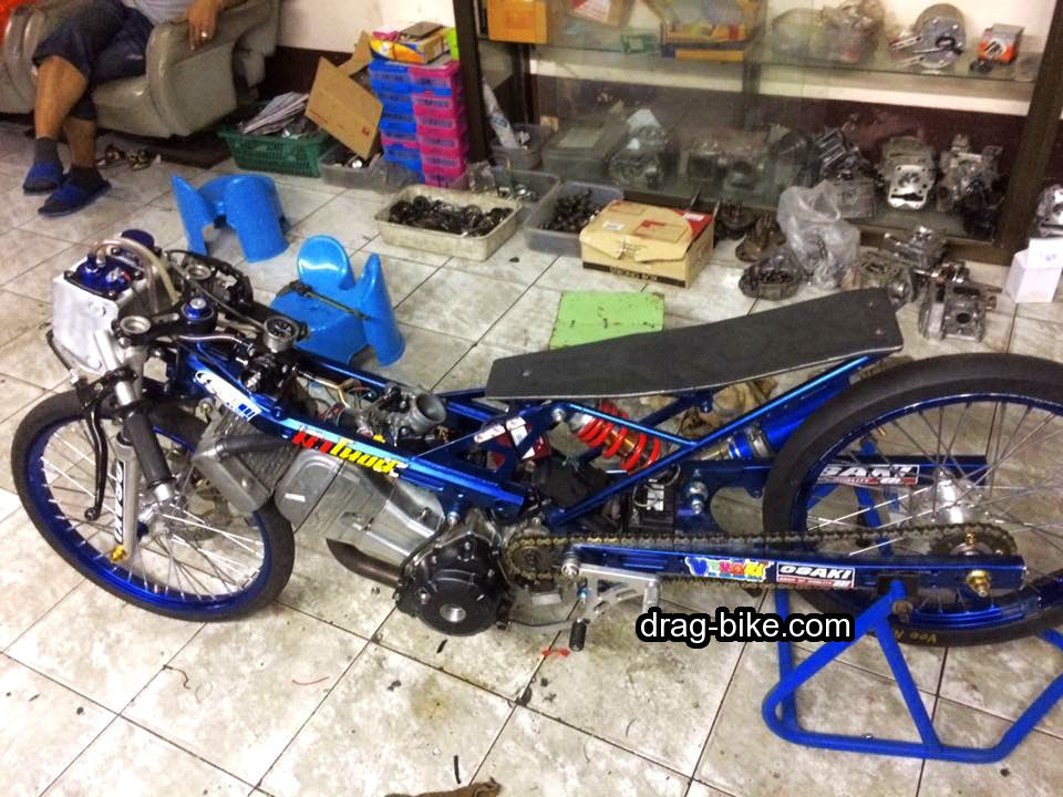 modifikasi honda sonic 150 drag
