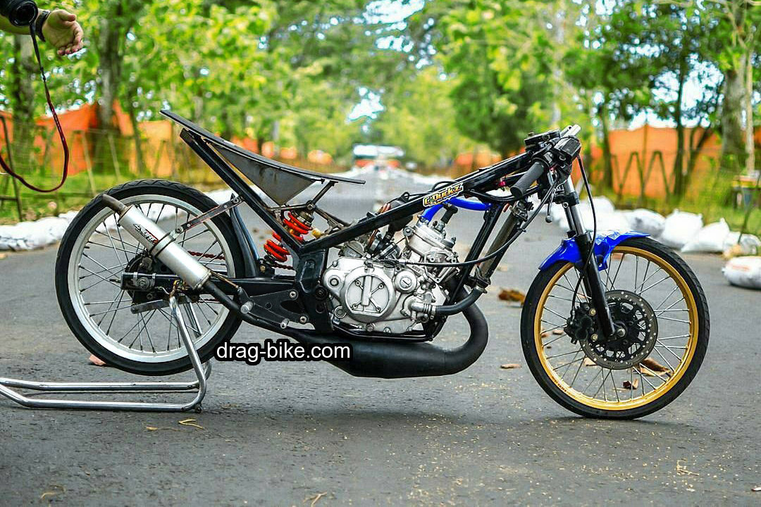 modifikasi kawasaki ninja drag indonesia