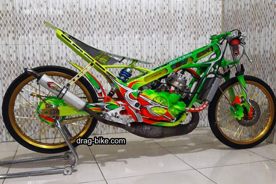 modifikasi motor drag bike ninja 150