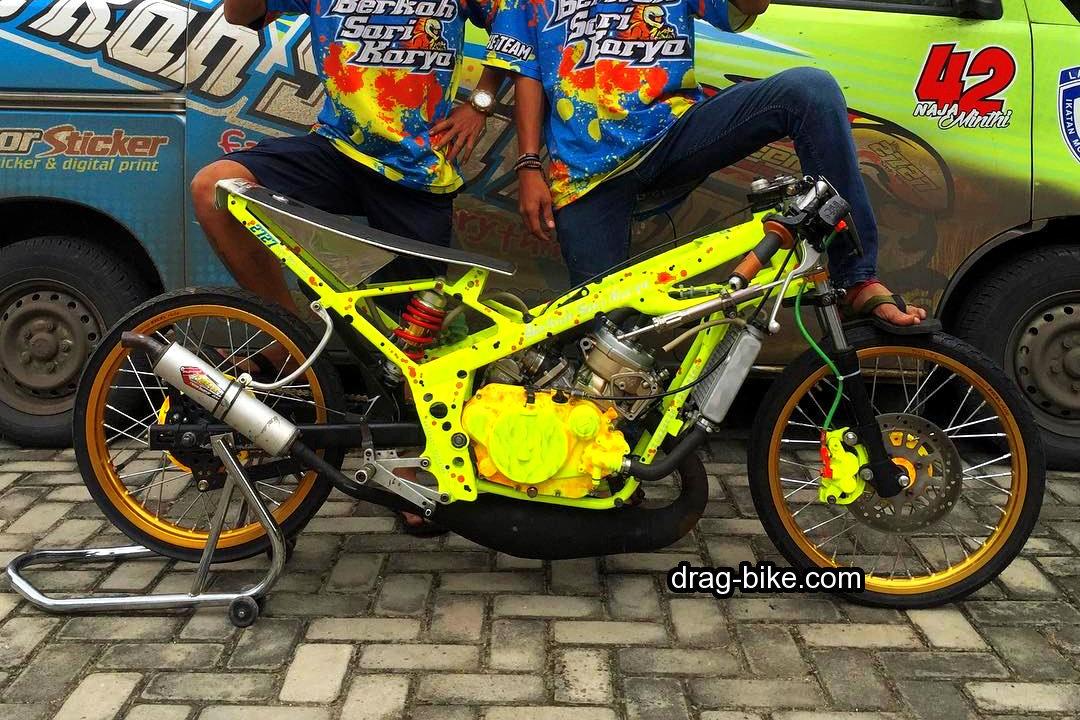 modifikasi motor drag ninja modif thailand style