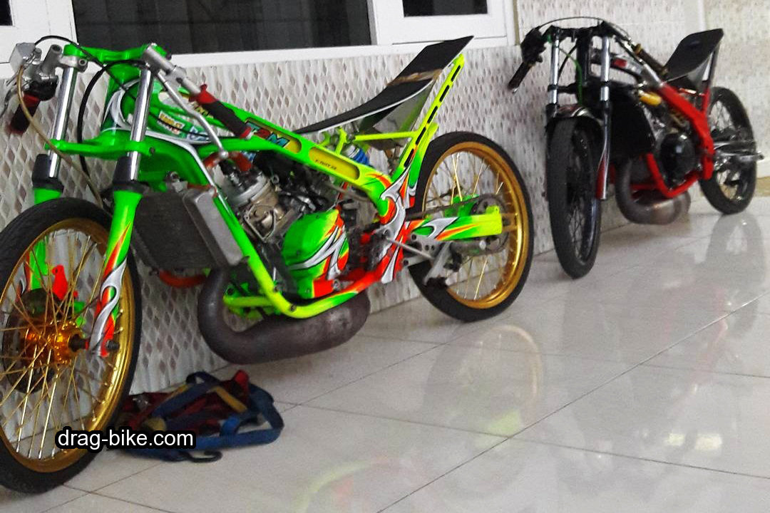 modifikasi motor drag ninja r 150