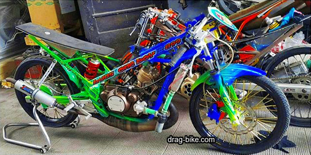modifikasi motor ninja drag bike