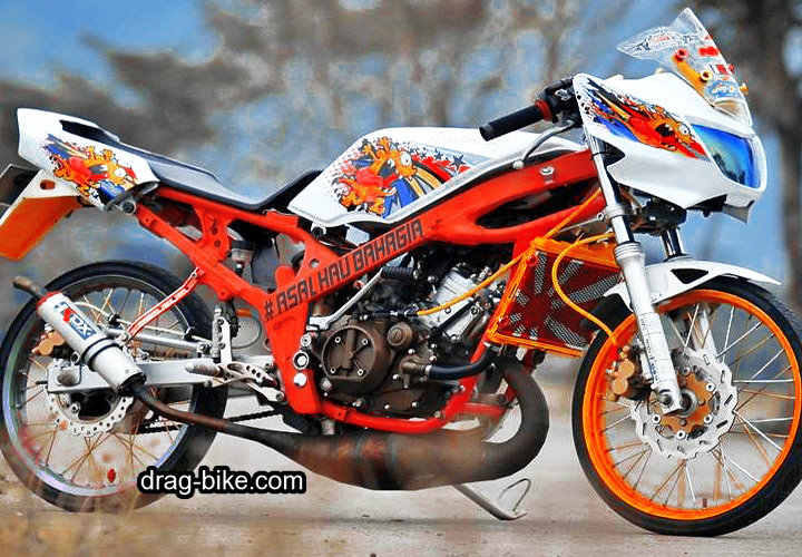 modifikasi motor ninja r super kips