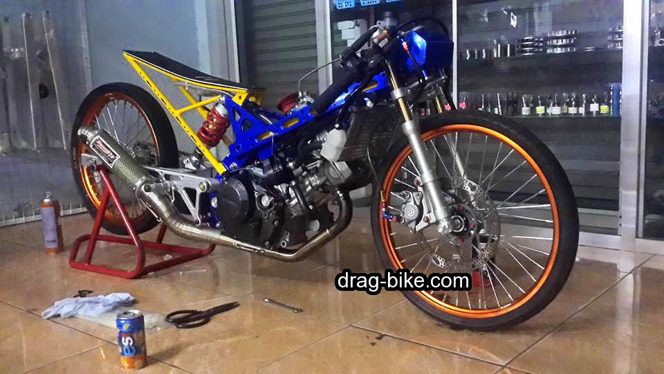 modifikasi motor sonic drag race